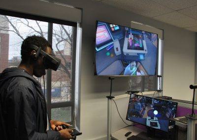 Student Exploring VR