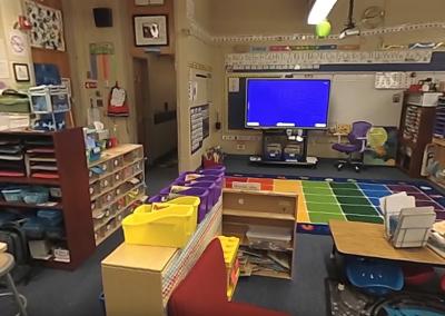 360º View of Flexible Spaces in the Kindergarten Classroom