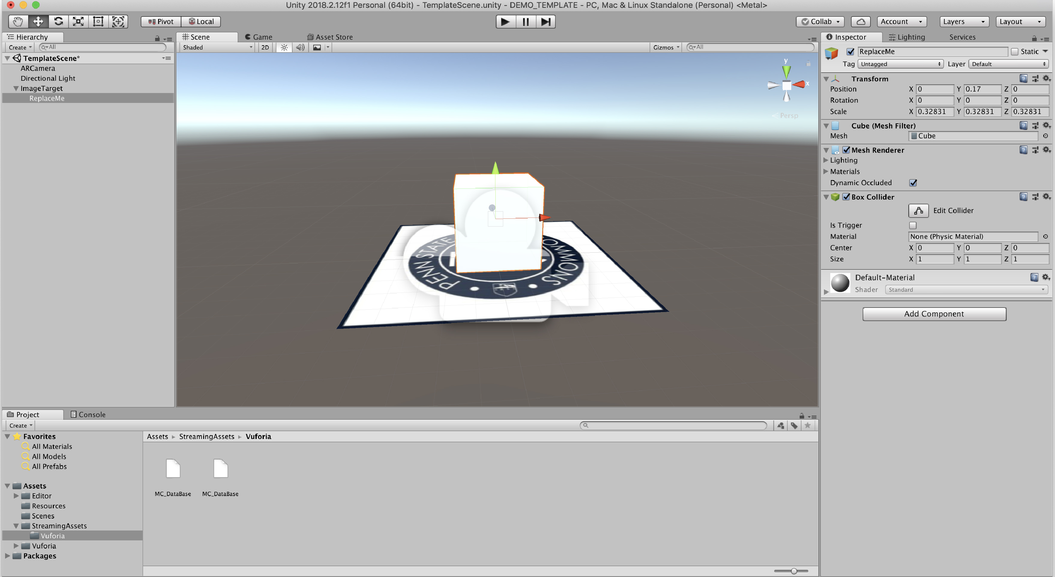 Templatizing Augmented Reality in Unity with IMEX | IMEX Lab