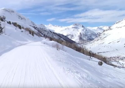 Skiing, Tignes, the French Alps