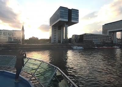 Köln am Rhein mit der KölnDüsseldorf