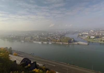 Ausblick über das Deutsches Eck in Koblenz