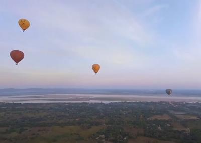 Think Hot Air Balloon Ride, Think Myanmar