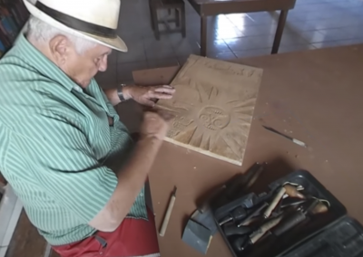 Artist At Work: Carving Woodblock Prints In Brazil