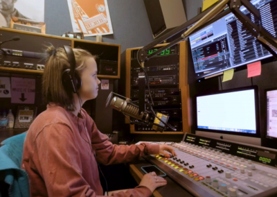 Listen to a Broadcast in the WICB Studio